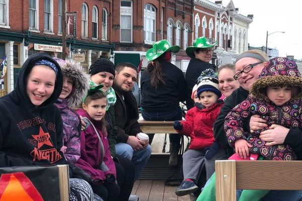 St. Patrick's Day Celebrations in Historic Garrettsville, Ohio